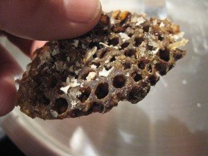 Dark honeycomb beeswax